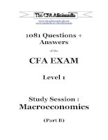 1081 question answers of the cfa exam level 1