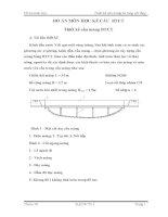đồ án kết cấu bê tông cốt thép thiết kế cầu máng bê tông cốt thép