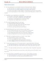Kiểm tra trắc nghiệm tiếng anh lớp 12 gồm 200 câu trắc nghiệm ôn thi đại học