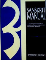 sanskrit manual a quick-reference guide