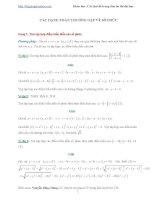 Các dạng toán trọng tâm về số phức trong đề thi đại học