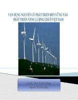 vận dụng nguyên lý phát triển bền vững vào phát triển năng lượng gió ở việt nam