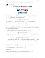 chuyên đề 4 tương giao của đồ thị các hàm số