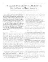 A digitally controlled switch mode power supply based on matrix converter