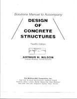 Design of concrete structures  arthur h  nilson