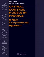 optimal control models in finance a new computational approach
