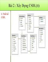 Thiết kế website thương mại - Bài 2: Xây dựng cơ sở dữ liệu