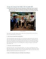 14 quy tắc công sở mà nhân viên trẻ phải biết