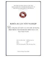 Khóa luận tốt nghiệp: Thực trạng ký kết và cơ chế áp dụng hiệp định tránh đánh thuế hai lần tại Việt Nam