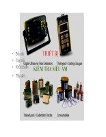 Các thiết bị cần có để kiểm tra không phá hủy (NDT) bằng siêu âm
