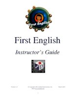 Teacher guide First English (DynEd)