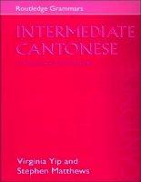 intermediate cantonese a grammar and workbook