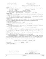 Đề thi HSG cấp Tỉnh môn Hóa Học 9 (Thái Nguyên)