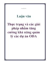Đề án: Thực trạng và giải pháp sử dụng hiệu quả vốn ODA của Nhật Bản tại Việt Nam