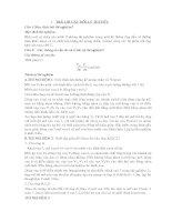 TRẢ LỜI CÂU HỎI BÀI 1 MÔN THÍ NGHIỆM QUÁ TRÌNH THIẾT BỊ