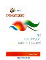 bài 5 lập trình php (phần 3) làm việc với dữ liệu của form