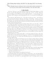 MỘT SỐ BIỆN PHÁP CHỈ ĐẠO VIẾT SÁNG KIẾN KINH NGHIỆM VÀ VẬN DỤNG SÁNG KIẾN KINH NGHIỆM VÀO TRƯỜNG HỌC