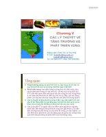 slide bài giảng môn kinh tế vùng - chương 5 các lý thuyết về tăng trưởng kinh tế và phát triển vùng