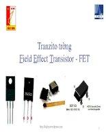 Transistor trường -FET