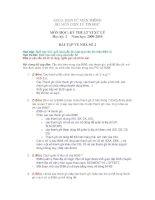 Bài tập Vi xử lý có đáp án số 2