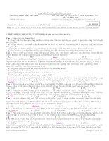 tuyển tập đề thi thử môn hóa học hay nhất