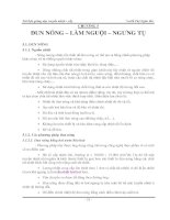 tài liệu giảng dạy truyền nhiệt sấy chương 5 đun nóng làm nguội ngưng tụ