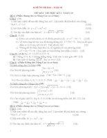 16 đề ôn thi học kì 1 môn toán  lớp 10