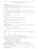 Đề cương ôn tập môn hóa học lớp 11