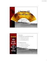 Bài giảng Con người và môi trường: Chương 3 - Nguyễn Nhật Huy