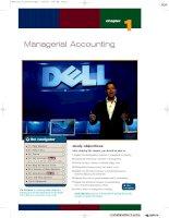 Nguyên lý kế toán - kế toán mỹ - Managerial Accounting
