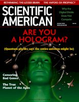 scientific american   -  2003 08  -  are you a hologram