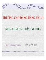 Bài giảng Máy phụ tàu thủy: Chương IX - Trần Xuân Biên