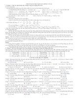 phân dạng bài tập dao động cơ học 2014