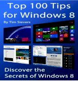 top 100 tips for windows 8 - discover the secrets of win. 8 - t. sievers (createspace, 2012) [ecv] ww