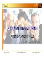 KỸ NĂNG THUYẾT TRÌNH PRESENTATION SKILLS