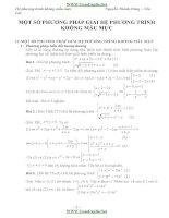 phương pháp giải hệ phương trình không mẫu mực