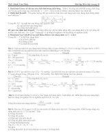 Bài tập hóa đại cương 2  ĐHSP ĐHĐN