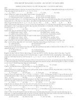 Tổng hợp bài tập hữu cơ trong đề thi đại học các năm