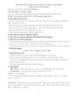 giáo án - chủ điểm trường mầm non  (4 tuần )