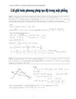 Lời giải 31 bài toán hình học tọa độ phẳng ôn thi đại học