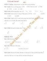 Tổng hợp 27 đề thi ôn tập toán lớp 5
