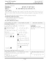 Giáo án đại số môn toán lớp 7 chương I