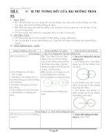 Giáo án môn toán hình lớp 9 học kì II