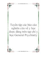 báo cáo nghiên cứu về y học được đăng trên tạp chí y học general psychiatry