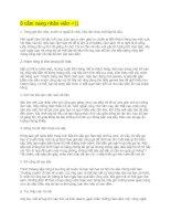 Cẩm nang cho nhân viên  BÍ QUYẾT DÀNH CHO NGƯỜI ĐI LÀM