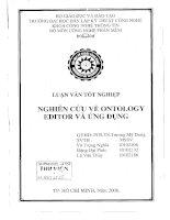 Nghiên Cứu Về Ontolory Editor và ứng dụng