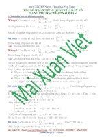 tìm số hạng tổng quát của dãy số bằng phương pháp sai phân