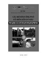 Các mô hình ứng phó với biến đổi khí hậu  Kinh nghiệm của các tổ chức phi chính phủ tại Việt Nam