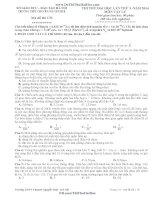 thi thử đại học lần thứ 3 - năm 2014 và đáp án môn vật lý chuyên nguyễn huệ