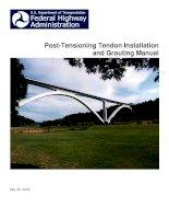 Cấu tạo ứng suất trước (tài liệu tiếng anh) Post  tensioning tendo Installation and Grouting manual